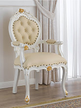 Dining chair with armrests Nathalie Decape Baroque