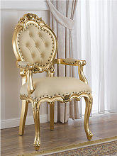 Dining chair with armrests Nathalie French Baroque