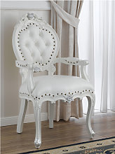Dining chair with armrests Nathalie Modern Baroque