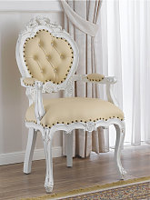 Dining chair with armrests Nathalie Shabby Chic