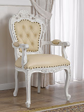 Dining chair with armrests Veronique Shabby Chic