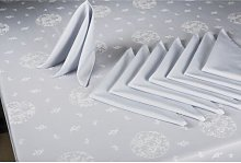 Dining Linen Set Symple Stuff Colour: Blue/Grey