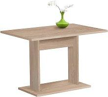 Dining Table 110cm Oak Tree - Beige - FMD
