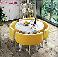 Dining table, 80cm Marble Round Table Simple Style