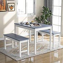 Dining Table Bench Set, Retro Kitchen Garden Bench
