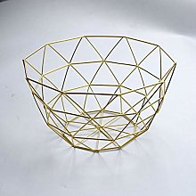 Dinner Plate Dish Metal Wire Fruit Plate Kitchen