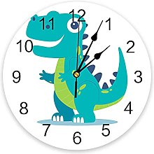 Dinosaur Cartoon Modern Wall Clock For Home Office