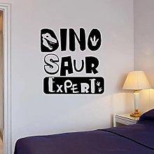 Dinosaur Expert Wall Decal Creative Inscription