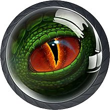 Dinosaur Eye Dresser Drawer Handles Knobs Glass 4