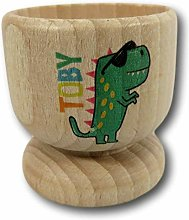 Dinosaur Name Wooden Egg Cup | Personalised Egg