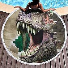 Dinosaur Printed Round Beach Towel Yoga Picnic Mat