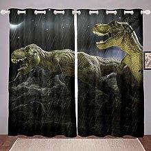 Dinosaur Room Darkening Curtain T-Rex Jurassic