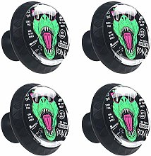 Dinosaur with Cool Slogans Drawer Handle with