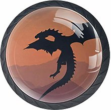 Dinosaurs Cabinet Knobs 4 Pieces Drawer Handle