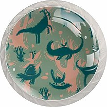 Dinosaurs Drawer Knobs Pulls Cabinet Handle for