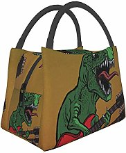 Dinosaurs Electric Guitar Dinosaur Insulated Lunch