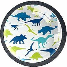 Dinosaurs Silhouette Pattern Drawer Pulls Handles