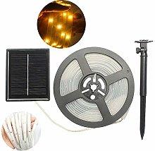 DINOWIN LED Light Strip Outdoor, Waterproof Solar