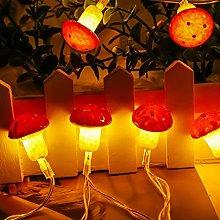 DINOWIN Mushroom String Lights, 9.84ft 20LED