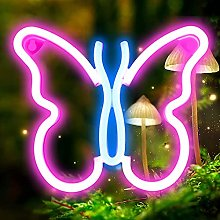 DINOWIN Neon Light for Bedroom, Butterfly Neon