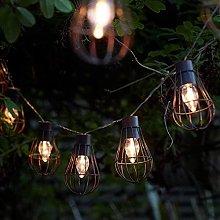 DINOWIN Solar Outdoor Fairy Lights 10LED Metal
