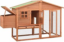 Dioche Chicken Coop with Nest Box, Large Fir Wood