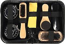 Dirgee Shoe Care Kits Shoe Brush with Wood handle