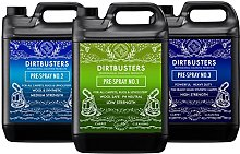 Dirtbusters professional prespray number 1 2 & 3