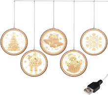 Disc 5 series of icicle lights led string lights