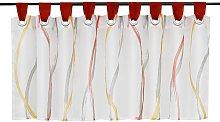 Disc curtain Bistro curtain in transparent voile