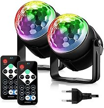 Disco Ball 2 Pack, Party Light Stage Lamp