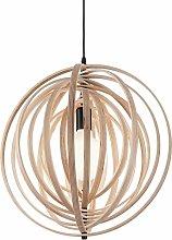 DISCO wood pendant light 1 bulb