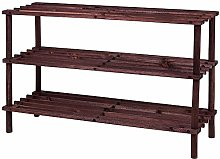 DISCOUNT ZONE New 2 3 4 Tier slated Wood Shoe Rack