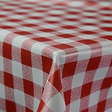 Discover Direct Gingham Red Wipe Clean PVC Vinyl
