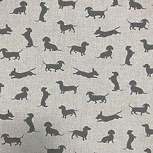 Discover Direct Sausage Dog Grey Design Cotton