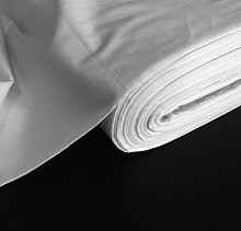 Discover Direct White Polycotton Curtain Lining
