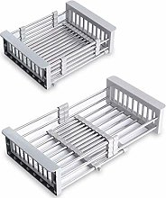 Dish Drainer, Foldable Dish Drying Rack Over Sink