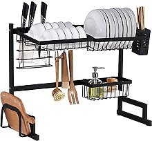 Dish Drainer,Kitchen Countertop Dish Rack with
