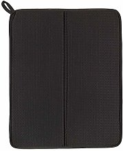 Dish Drying mat, Dark Grey, Length: 44 cm, Width: