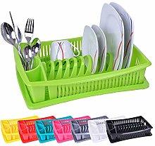 Dish rack, dish drainer, crockery draining basket,