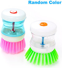 Dish Scrubber Brush with Soap Dispenser Cleaning