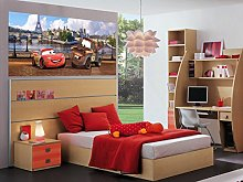 Disney Cars Paris Photo Mural Wallpaper for