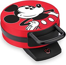 Disney DCM12 Mickey Mouse Waffle Maker, Red by