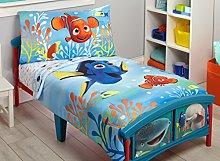Disney Finding Dory 4 Piece Toddler Bedding Set,