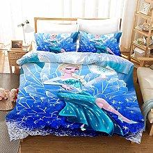 Disney Frozen Anime Bedding Set Anna and Elsa