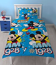 Aymax Disney Minnie Single Duvet Cover Minnie /& Mickey Mouse Single Duvet Cover /& Pillowcase Set,Official Licenced.