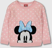 Disney Minnie Mouse Pink Jumper - 2-3 years