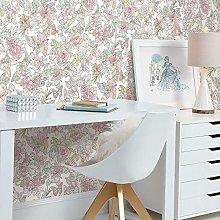 Disney Princess Royal Floral Adhesive Wallpaper