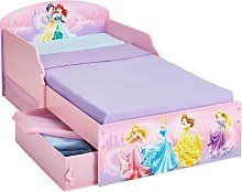 Disney Toddler Bed With Drawers Princess 142x59x77