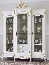 Display cabinet Amanda Decape Baroque style ivory
